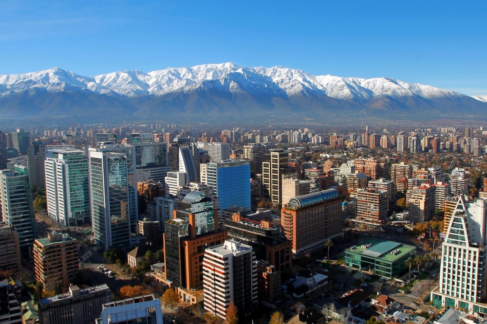 Santiago city. Capital of Chile.